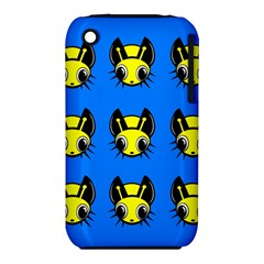 Yellow and blue firefies Apple iPhone 3G/3GS Hardshell Case (PC+Silicone)