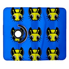 Yellow and blue firefies Samsung Galaxy Note II Flip 360 Case