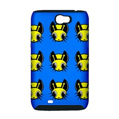 Yellow and blue firefies Samsung Galaxy Note 2 Hardshell Case (PC+Silicone)