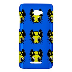 Yellow and blue firefies HTC Butterfly X920E Hardshell Case