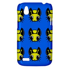Yellow and blue firefies HTC Desire V (T328W) Hardshell Case