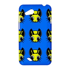 Yellow and blue firefies HTC Desire VC (T328D) Hardshell Case