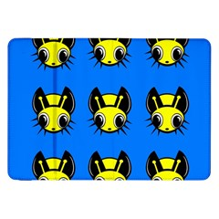 Yellow and blue firefies Samsung Galaxy Tab 8.9  P7300 Flip Case