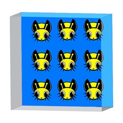 Yellow and blue firefies 5  x 5  Acrylic Photo Blocks
