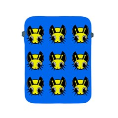 Yellow and blue firefies Apple iPad 2/3/4 Protective Soft Cases