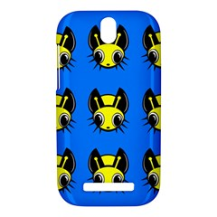 Yellow and blue firefies HTC One SV Hardshell Case
