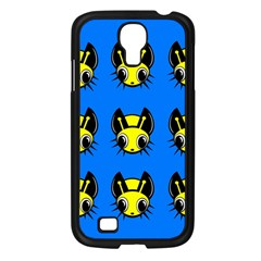 Yellow and blue firefies Samsung Galaxy S4 I9500/ I9505 Case (Black)
