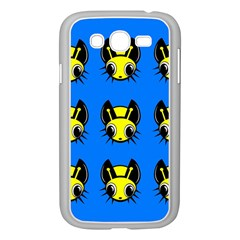 Yellow and blue firefies Samsung Galaxy Grand DUOS I9082 Case (White)