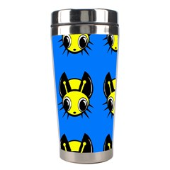 Yellow and blue firefies Stainless Steel Travel Tumblers