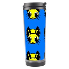 Yellow and blue firefies Travel Tumbler