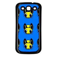 Yellow and blue firefies Samsung Galaxy S3 Back Case (Black)