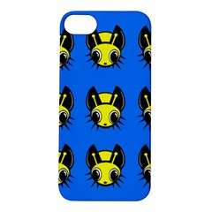 Yellow and blue firefies Apple iPhone 5S/ SE Hardshell Case
