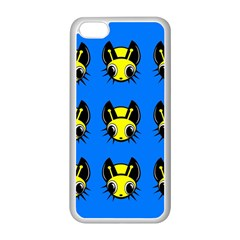 Yellow and blue firefies Apple iPhone 5C Seamless Case (White)