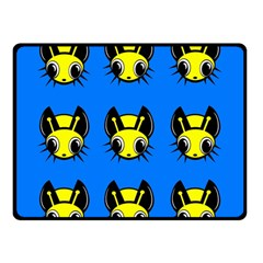 Yellow and blue firefies Double Sided Fleece Blanket (Small)