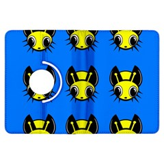 Yellow and blue firefies Kindle Fire HDX Flip 360 Case