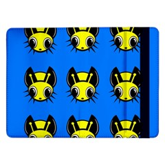Yellow and blue firefies Samsung Galaxy Tab Pro 12.2  Flip Case