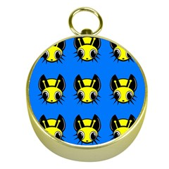 Yellow and blue firefies Gold Compasses