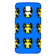 Yellow and blue firefies Samsung Galaxy S5 Back Case (White)