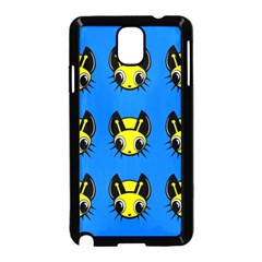 Yellow and blue firefies Samsung Galaxy Note 3 Neo Hardshell Case (Black)
