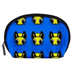 Yellow and blue firefies Accessory Pouches (Large)