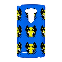 Yellow and blue firefies LG G3 Hardshell Case