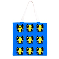 Yellow and blue firefies Grocery Light Tote Bag