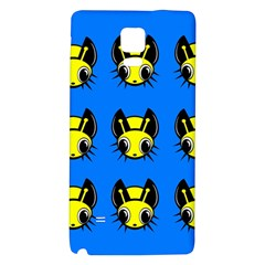 Yellow and blue firefies Galaxy Note 4 Back Case