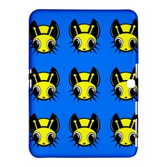 Yellow and blue firefies Samsung Galaxy Tab 4 (10.1 ) Hardshell Case