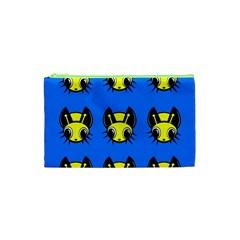 Yellow and blue firefies Cosmetic Bag (XS)