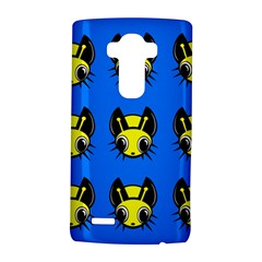 Yellow and blue firefies LG G4 Hardshell Case