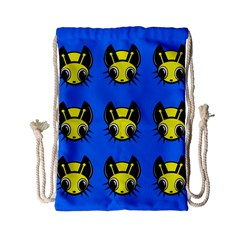 Yellow and blue firefies Drawstring Bag (Small)