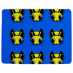 Yellow And Blue Firefies Jigsaw Puzzle Photo Stand (rectangular)
