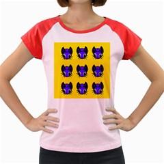 Blue and yellow fireflies Women s Cap Sleeve T-Shirt