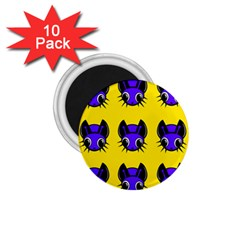 Blue and yellow fireflies 1.75  Magnets (10 pack)