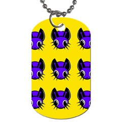 Blue and yellow fireflies Dog Tag (One Side)
