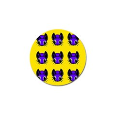 Blue and yellow fireflies Golf Ball Marker