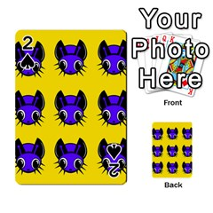 Blue and yellow fireflies Playing Cards 54 Designs
