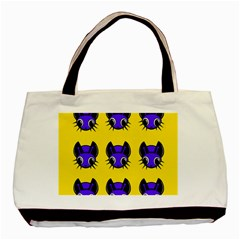 Blue and yellow fireflies Basic Tote Bag