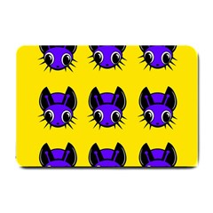 Blue and yellow fireflies Small Doormat