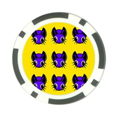 Blue and yellow fireflies Poker Chip Card Guards