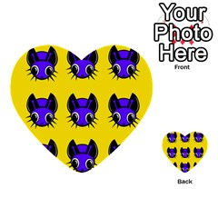 Blue and yellow fireflies Multi-purpose Cards (Heart)