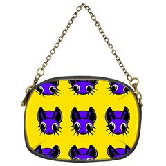 Blue And Yellow Fireflies Chain Purses (one Side)