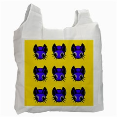 Blue and yellow fireflies Recycle Bag (Two Side)