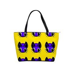 Blue and yellow fireflies Shoulder Handbags