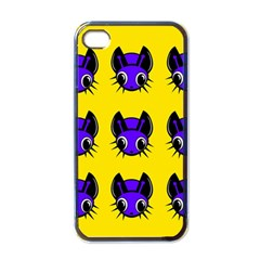 Blue and yellow fireflies Apple iPhone 4 Case (Black)