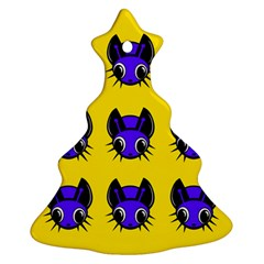 Blue and yellow fireflies Ornament (Christmas Tree)