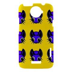 Blue and yellow fireflies HTC One X Hardshell Case