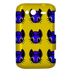 Blue and yellow fireflies HTC Wildfire S A510e Hardshell Case