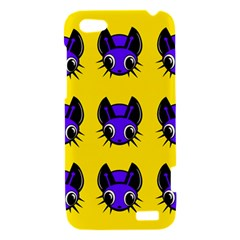 Blue and yellow fireflies HTC One V Hardshell Case