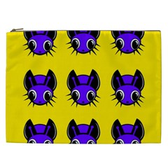 Blue and yellow fireflies Cosmetic Bag (XXL)